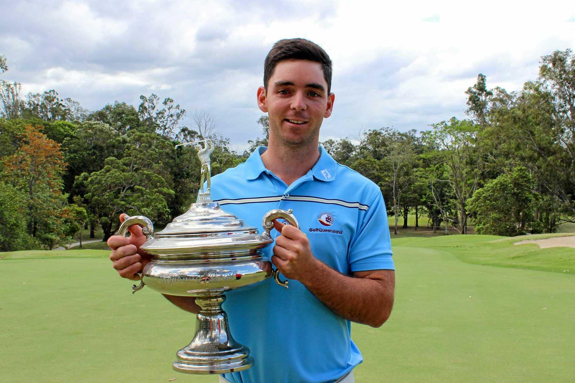 WINNER: Charlie Dann won the Keperra Bowl in Brisbane yesterday.