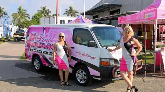 FUN FAIR: Pink Ribbon Charity Fair organiser Raelene Wells with Kelly O'Connor.