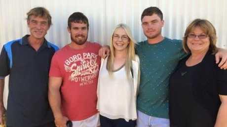 Josh Davies and family.