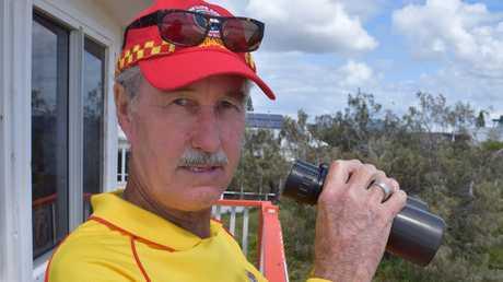 Marcoola Surf Life Saving Club radio officer Noel Messer has been volunteering for nearly 20 years.