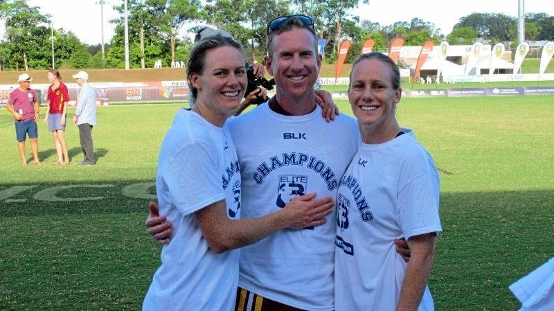 FAMILY AFFAIR: Peta Rogerson, Queensland Broncos coach and husband Lucas Feldman and Hayley Rogerson.