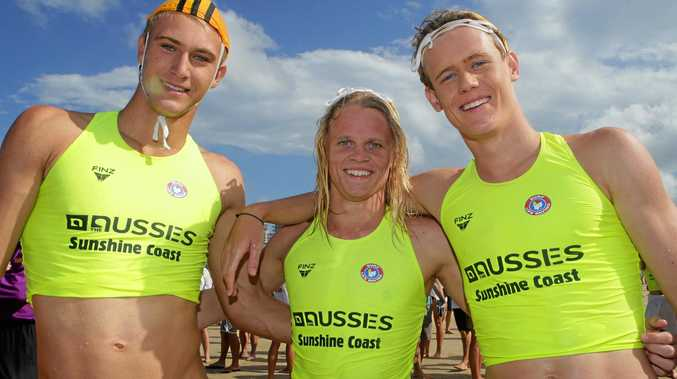 WINNER: Coast teenager Campbell Guthrie (right) has won the Coolangatta Gold under-19 short course.