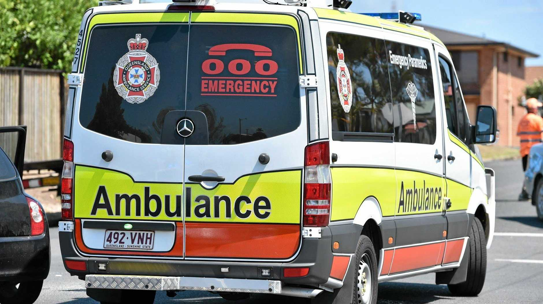 PARAMEDICS are assessing a woman in her 60's after it was reported her vehicle ran off the road at Calliope this morning.