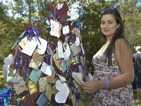 University of the Sunshine Coast midwifery student Rachelle Mackenzie attends a Sands Australia walk for little lives lost.