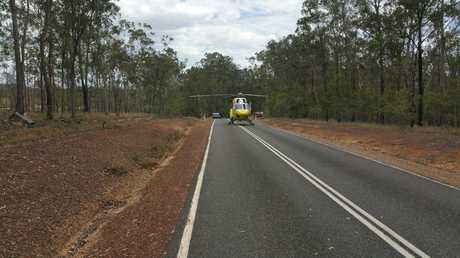 A woman was airlifted by RACQ LifeFlight to Royal Brisbane and Women's Hospital on October 16, following a vehicle incident on the Maryborough-Biggenden Rd.