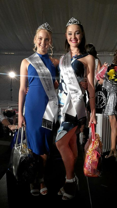 Calliope's Madisyn Ninness and Tannum Sand's Taleisha Purdy are through to the national finals for Miss Teen Australia.