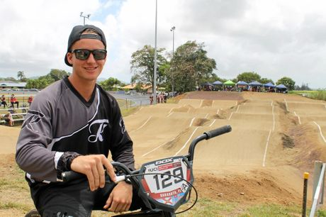 Mackay's World Cup competitor Tristyn Kronk competed at the BMX Sugar City Classic at Walkerston track.