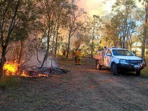 Hot work keeps wild fire away