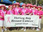 Stepping out at the Hervey Bay Relay for Life on Saturday is the Hervey Bay Breast Cancer Support Group (l-r) Pam Moy, Margaret Buchan, Vicki Wedd, Anka Smuderl, Ellen Duncan, Marjorie Hanson, Pauline Findlay and Sue Albress.