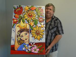 Carnival of Flowers art brightens up Darling Downs home