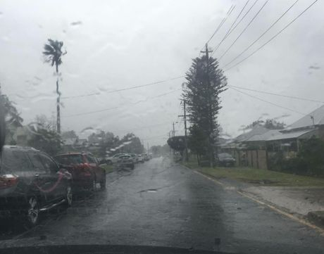 Powerlines down in Eton St as wild weather hits