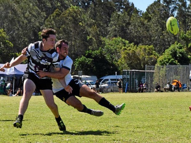 INTERNATIONAL FLAVOUR: Teams from Australia and overseas competed in the rugby sevens at the Byron Bay Recreation Ground.
