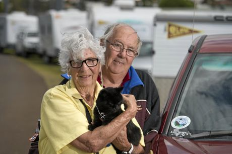 BLAST FROM THE PAST: Ann and Patrick Hetherman are part of a contingent who are re-enacting the activities of the NASA Cooby Creek Space Tracking Station, complete with a look-a-like cat Darcy.