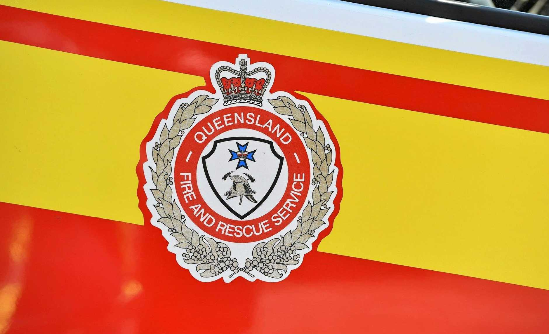 There has been a fire at a property in Glenden.