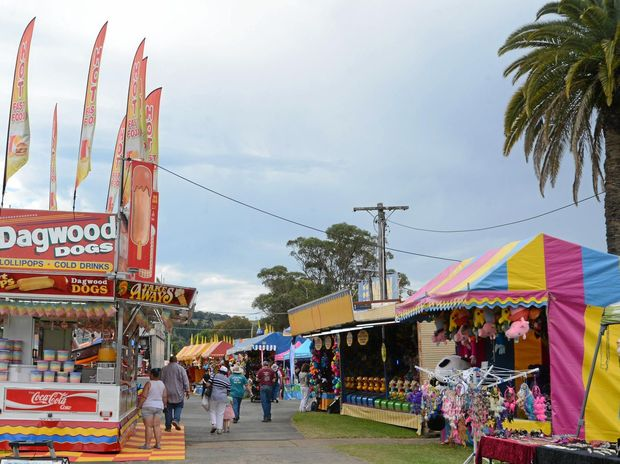 Sideshow Alley at the North Coast National.