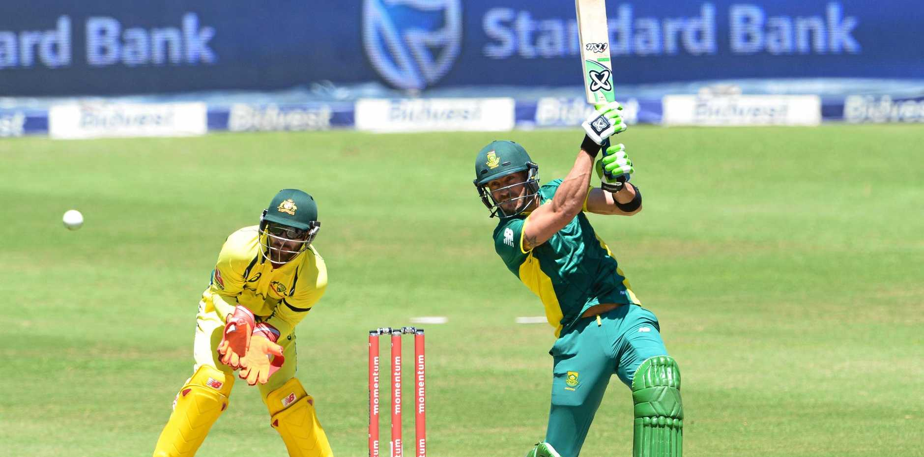 HOMEWORK TIME: South Africa captain Faf du Plessis is preparing to take on Mitchell Starc.