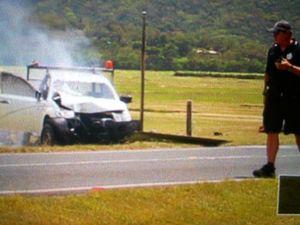 Man burned in Whitsunday crash: locals rush to aid