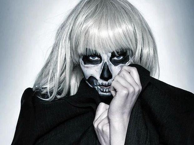 SCARY SKULL: Casey Van Zelst shows off incredible skull make-up.