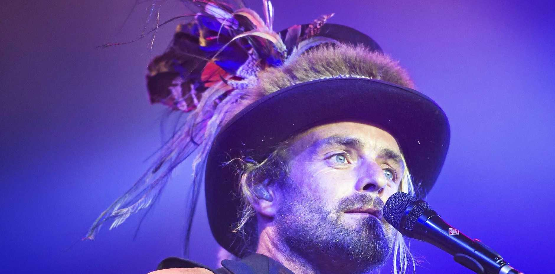 Australian singer songwriter Xavier Rudd at Bluesfest 2015.