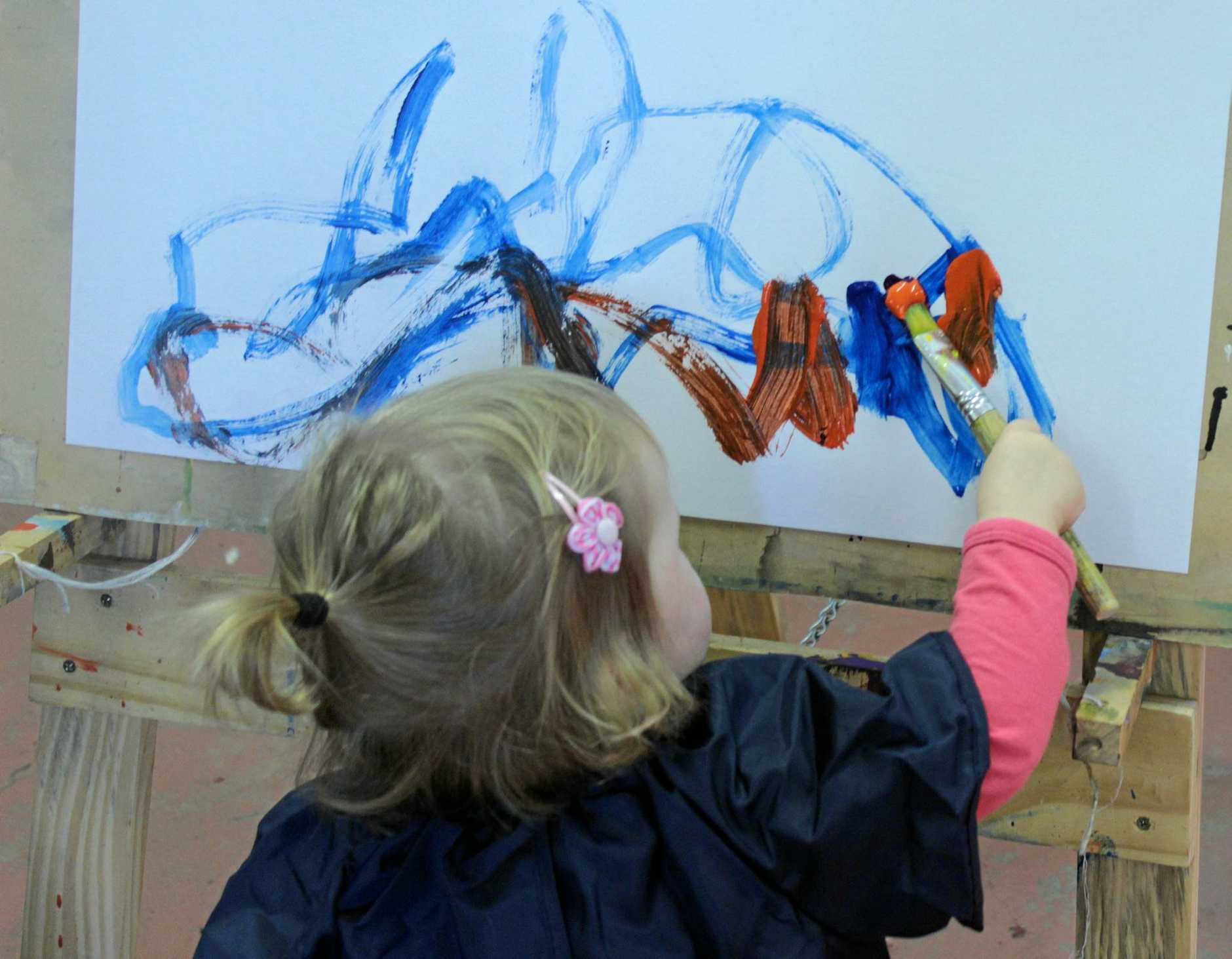 ARTISTS AT WORK: Artplay is a lovely way to introduce littlies to the gallery environment.
