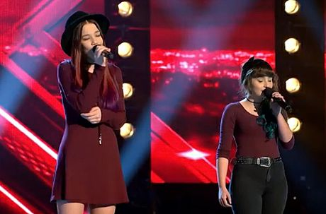 The Dennis Sisters perform during the three-seat challenge on The X Factor.