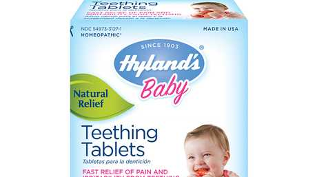 The homeopathic teething tablets will remain on sale in Australia