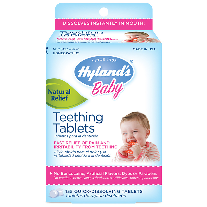 The homeopathic teething tablets remain on sale in Australia, despite the company removing them from sale in the US.