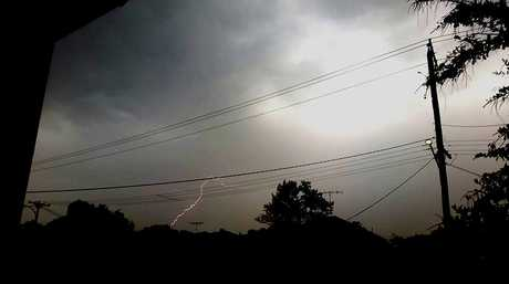 There were numerous lightning strikes reported. Shannon Leigh captured this great photo.
