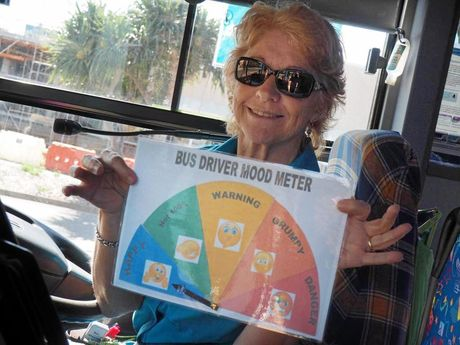 MOOD MONITOR: Bus Driver Erica isn't shy when it comes to sharing her feelings.