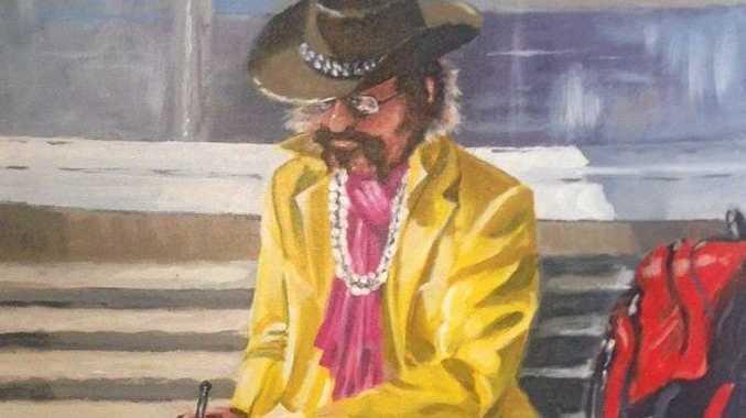 LOCAL LEGEND Shanti in Bangalow painted by Wayne 'Brownie
