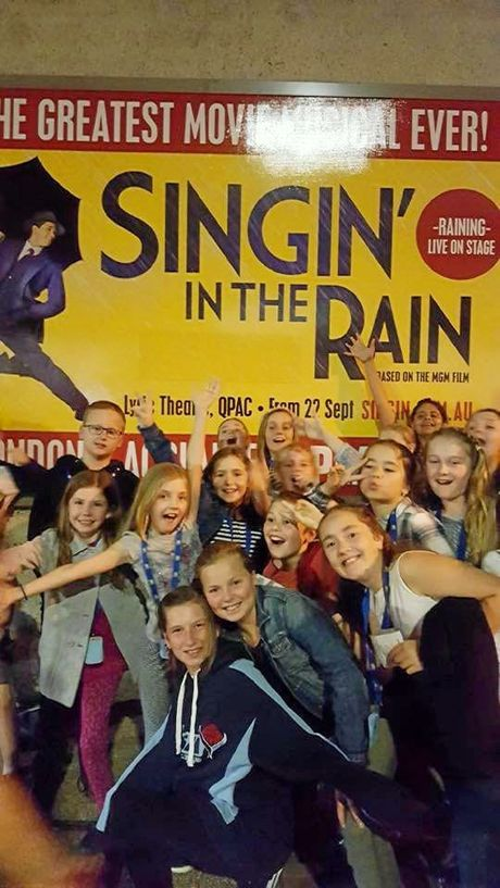 GPS students attended the premiere of 'Singing in the Rain' while on tour.