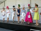 St Peter's Caulfield Cup Stockland Fashions on the Field under-35 entrants and winner Meleisha Lill (number 14).