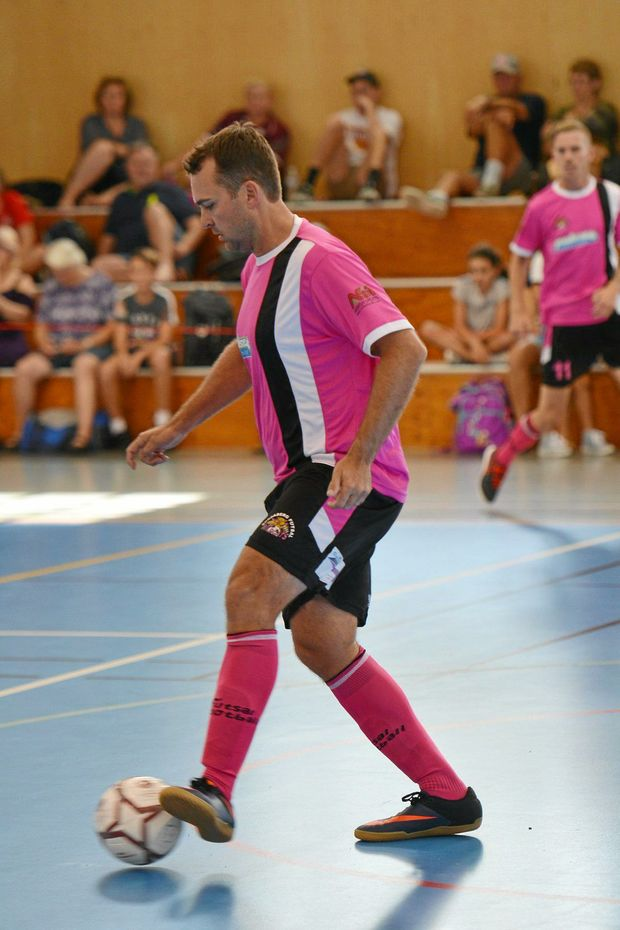 MOVING UP: Aaron Bakker in action for the Bundaberg Wildcats in the Premier League.