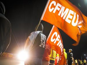 CFMEU mine protests boil over as two men charged