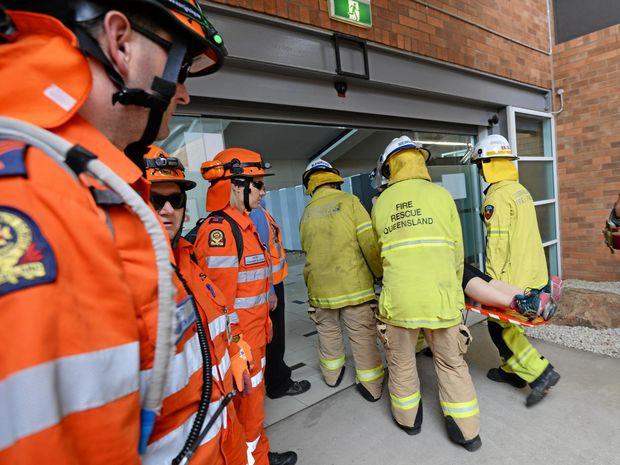 Rockhampton Airport Emergency Exercise . Photo Allan Reinikka / The Morning Bulletin