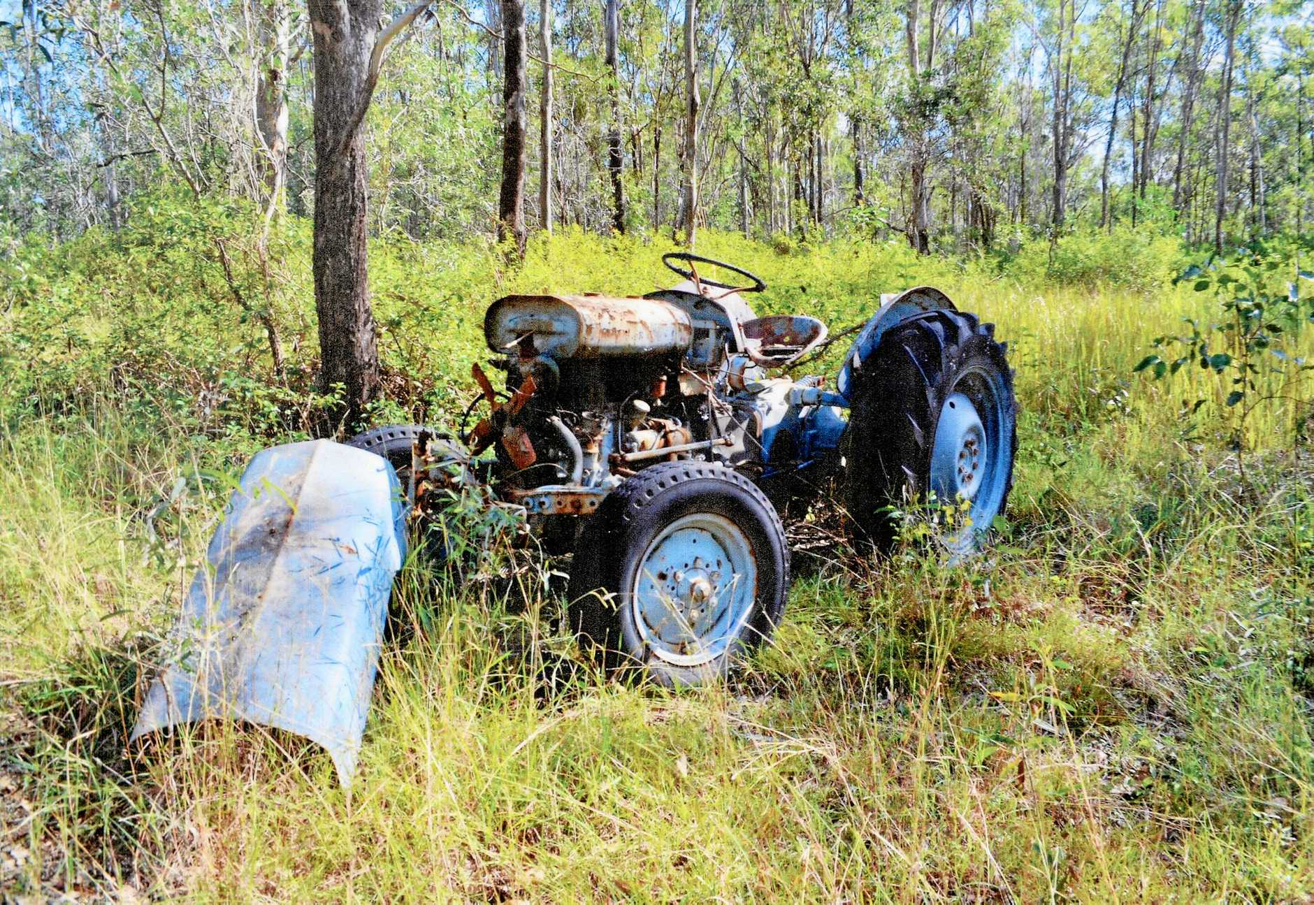 The Massey-Harris-Ferguson TED 20 tractor as it was found. Mr Madsen plans to take the newly refurbished Fergie (above) on the country show circuit.