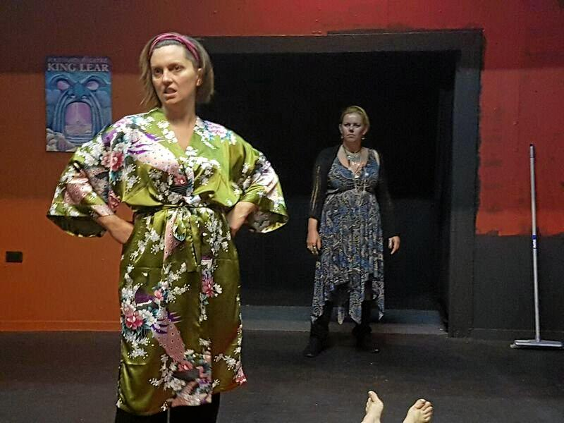 STARS: Beth Hobbs and Sarah Jane Loxton rehearsing for Better Be with the Dead.