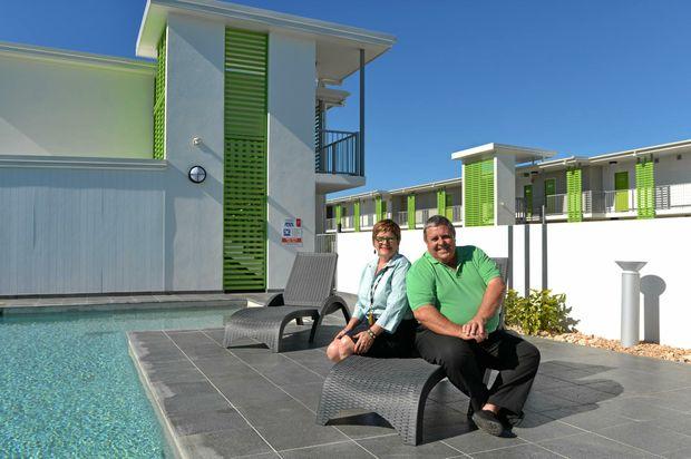 Madeline and Peter Stronge manage Potter's Oceanside Motel, entered in the 2016 Queensland Tourism Awards