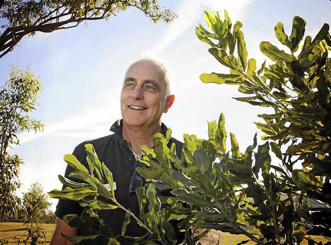 GROWING ON TREES: Australian Macadamia Society CEO Jolyon Burnett with one of his nuttier friends.