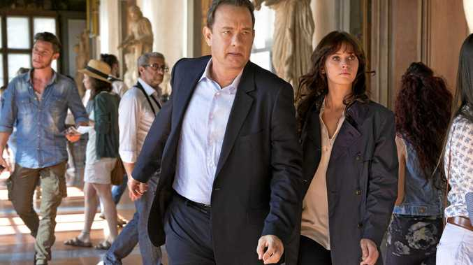 SAVING THE WORLD AGAIN: Tom Hanks and Felicity Jones in a scene from the movie Inferno.