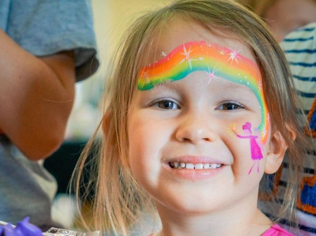 Neri White enjoyed the face painting and activities on offer at the Middlemount Multicultural Festival.