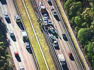 Traffic nightmare: Seven car pile-up cripples motorway