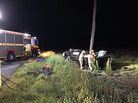 The scene of the fatal crash. Photo: Win News Toowoomba