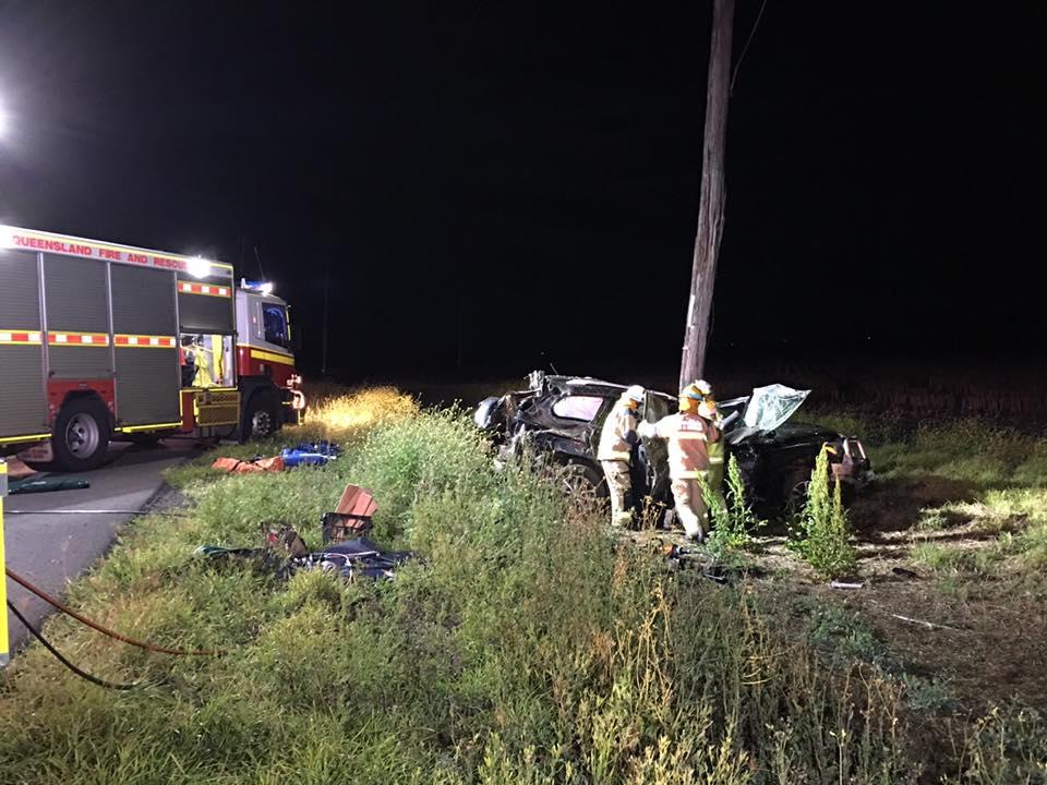 The scene of the fatal crash. Photo: Win News Toowoomba