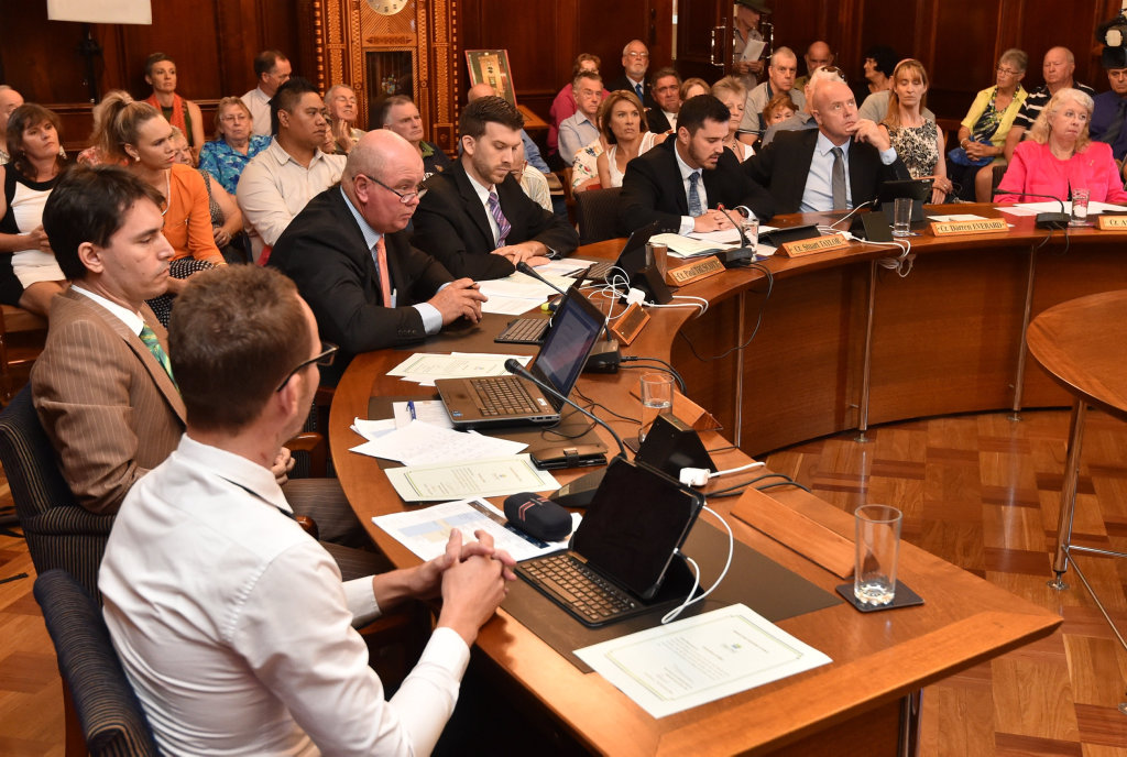 Cr Stuart Taylor left the chamber during a controversial mayoral minute on Monday.