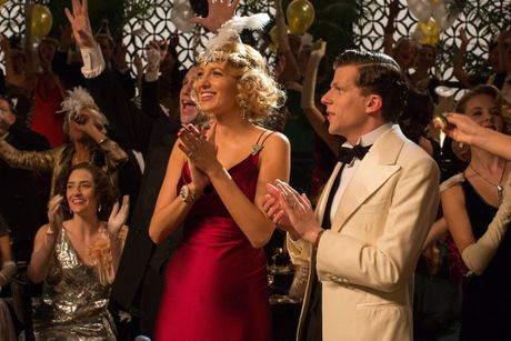 Blake Lively and Jesse Eisenberg in a scene from the movie Cafe Society.