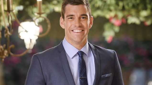 Perth fire fighter Cameron Cranley in a scene from The Bachelorette.