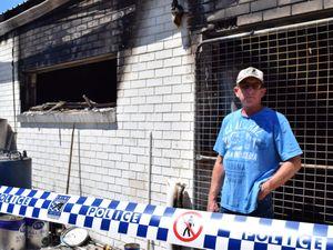 Fire destroys Rainbow Beach cafe, threatens whole town