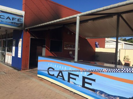 The Coloured Sands Cafe was gutted by fire on Tuesday night.