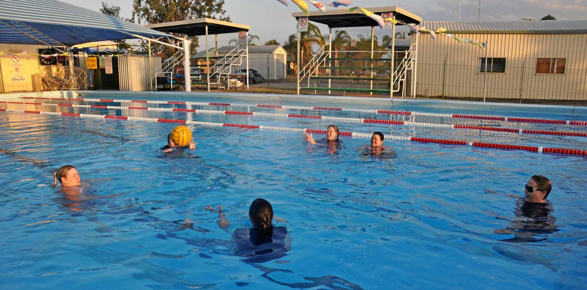 WATER FITNESS: Aqua aerobics classes are held three evenings a week at Monto pool.